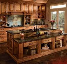 Rustic Cabin Kitchen Cabinets This Is My Favorite So Fore Log Home Kitchens Pinterest