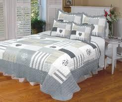 housse couette montagne boutis couvre lit 1place deco alpes blanc albertville