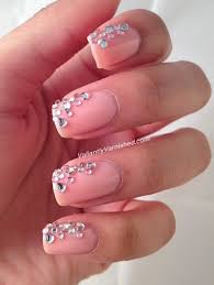 nail art rhinestones beautify themselves with sweet nails