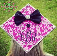 custom graduation caps monogram vinyl decal for graduation cap personalized