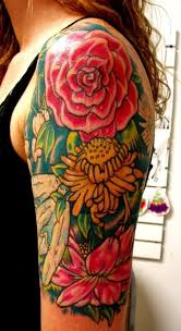 14 best flower rose tattoo images on pinterest flowers rose