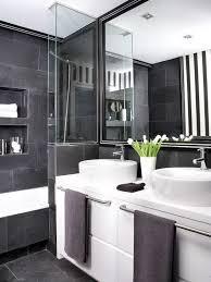 modern black and white bathroom wallpaper 4 home ideas