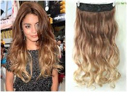 ombre hair extensions clip in dip dye clip in on ombre hair extensions synthetic light brown