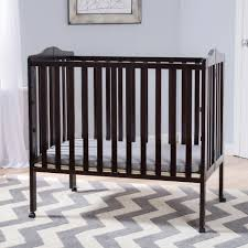 Delta Nursery Furniture Sets by Delta Children Portable Folding Crib With Mattress Dark Espresso