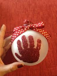grandparent christmas ornaments baby s christmas ornament with glitter handprint