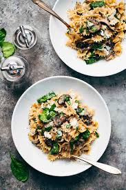 Romantic Dinner Ideas At Home For Him Date Night Mushroom Pasta With Goat Cheese Recipe Pinch Of Yum