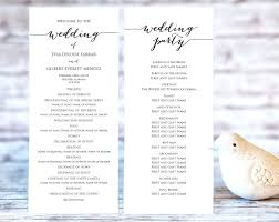 wedding ceremony program paper wedding programs diy hixathens