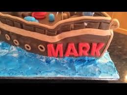 pirate ship birthday cake youtube