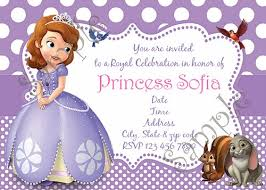 sofia the first birthday party invitations u2013 gangcraft net