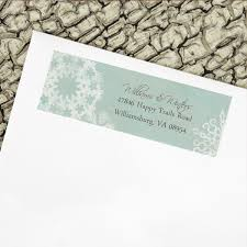 winter snowflakes wedding return address labels the painting pony