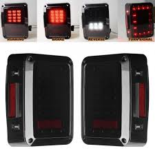jeep back lights led tail lights for jk 2007 2015 jeep wrangler with running brake