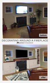 decorating built ins remodelaholic real life rooms decorating around a fireplace