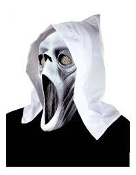 ghost glow mask hooded ghost mask masks glow dark eyes mouth halloween spook