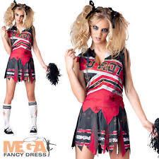 Zombie Cheerleader Incharacter Halloween Complete Fancy Dresses Ebay