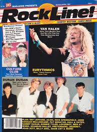 Magazine Usa Image Rock Line Magazine Wikipedia Duran Duran Van Halen Usa