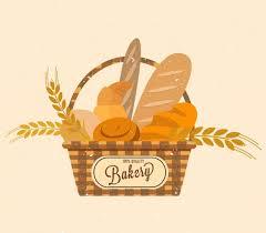 bakery basket bakery logo design bread basket barley icons decor free vector in