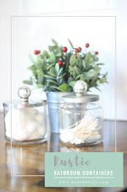 Storage Containers For Bathrooms by 7th Day Of Craftmas Rustic Bathroom Containers