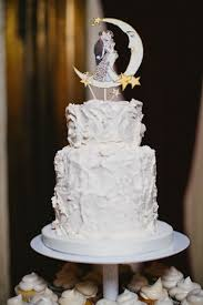 moon cake topper cake glamorous 1920s inspired moon and wedding cake