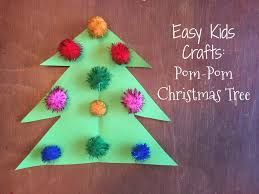 fun pom pom christmas crafts for kids the chirping moms