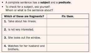 run on sentences and fragment sentences lessons tes teach