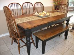 Best  Farmhouse Table With Bench Ideas On Pinterest Kitchen - Kitchen table and bench