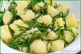 salicorne cuisine pommes de terre salicornes en salade chaud froid mémoires de ma