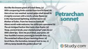 petrarchan sonnet rhyme scheme format u0026 example poems video