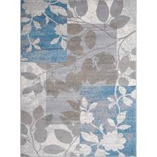 Modern Floral Area Rugs Home Dynamix Tremont Collection Hd5282 196 Beige Blue Modern