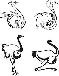 tribal ostrich tattoo clip art vector images u0026 illustrations istock