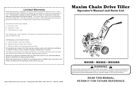 28 manual for maxim ms50b mid tine tiller ms50b maxim