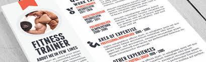 Fitness Resume Graphic Designer Resume Sample