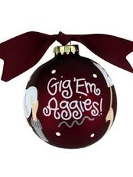 aggie decor shadow box ornaments maroon spray