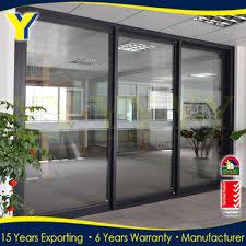 entrance glass door double glazed commercial building entrance aluminum three panel