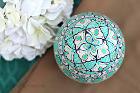 painted ostrich egg turquoise and gold moroccan ostrich egg best of wardah