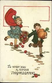 174 best thanksgiving vintage postcards images on