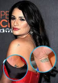 perfect phoenix tattoos lea michele and her 14 tattoos