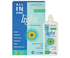 sauflon all in one light contact lens solution