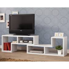 White Modern Bookcase coaster tv console item 800330 walmart com