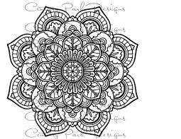 mandala 001 svg jpeg png pdf use with silhouette studio and