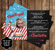 Twins 1st Birthday Invitation Cards Novel Concept Designs Twins Thing 1 And Thing 2 Cat In The Hat