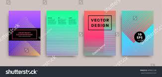 minimalistic covers set geometric futuristic design stock vector