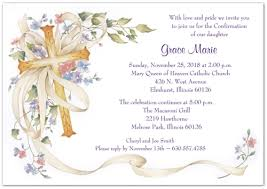 confirmation invitation cross and flowers confirmation invitations storkie