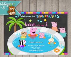 peppa pool party etsy