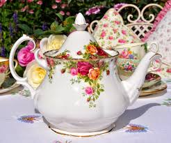 country roses tea set albert country roses large vintage teapot