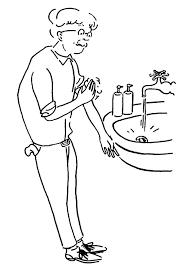Hand Washing Coloring Sheet - hand washing coloring pages for kids hand washing coloring pages