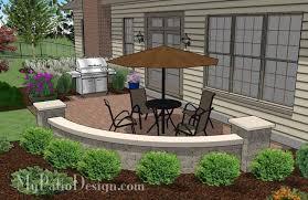 Concrete Paver Patio Designs Small Concrete Paver Patio Design With Seat Wall 315 Sq Ft