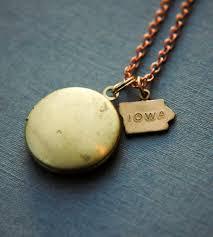 custom charm necklaces custom brass state charm locket necklace jewelry necklaces
