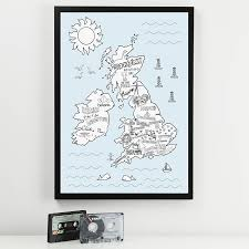 Map Of England And Ireland by Illustrated Uk And Ireland Music Festival Map By Mixpixie