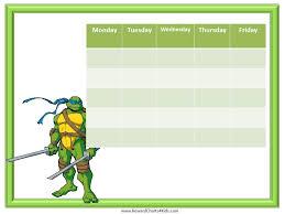 10 images ninja turtle free printable chore chart printables