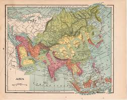 Printable Map Of Asia Avid Vintage Vintage Collectibles